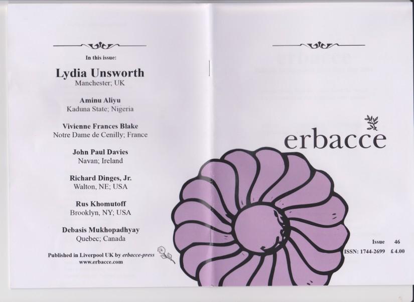 Four poems at ErbacceMagazine